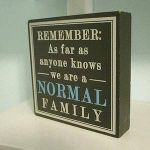 Kohl's Wooden Family Quote